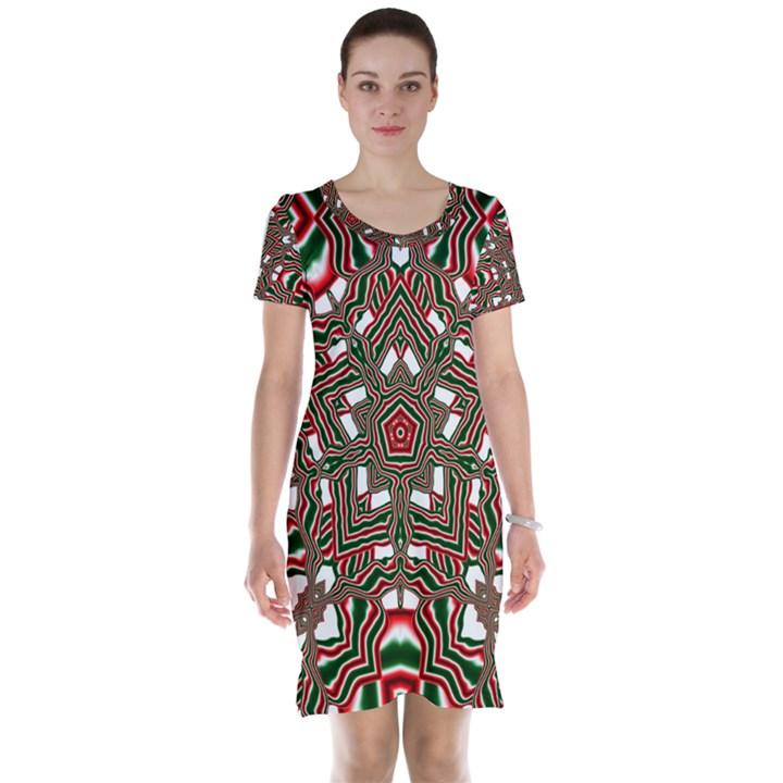 Christmas Kaleidoscope Short Sleeve Nightdress