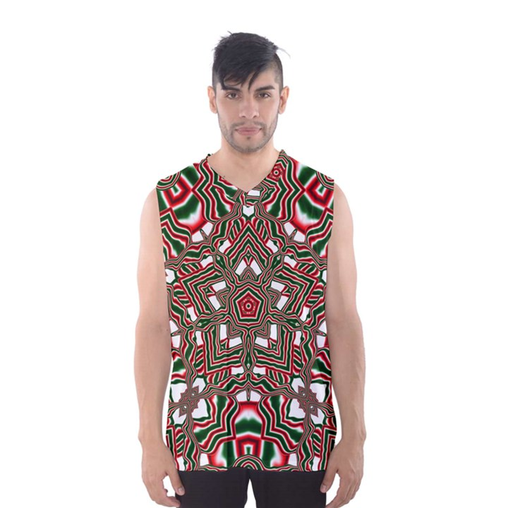 Christmas Kaleidoscope Men s Basketball Tank Top