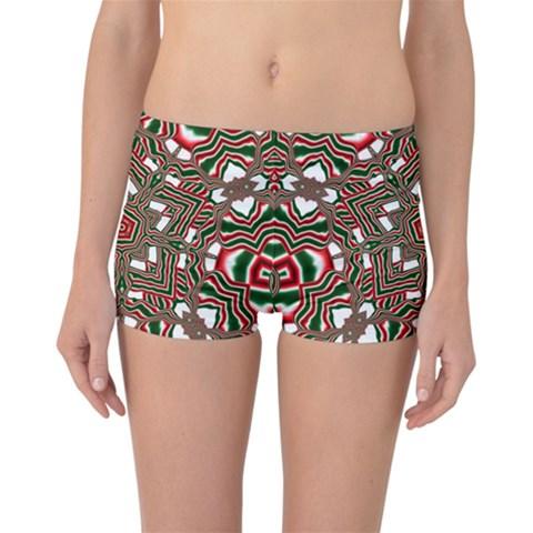 Christmas Kaleidoscope Reversible Boyleg Bikini Bottoms