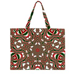Christmas Kaleidoscope Large Tote Bag