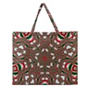 Christmas Kaleidoscope Zipper Large Tote Bag View1