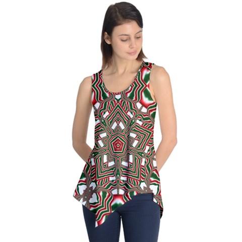Christmas Kaleidoscope Sleeveless Tunic
