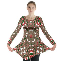 Christmas Kaleidoscope Long Sleeve Tunic