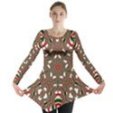 Christmas Kaleidoscope Long Sleeve Tunic  View1