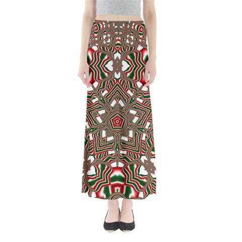 Christmas Kaleidoscope Maxi Skirts