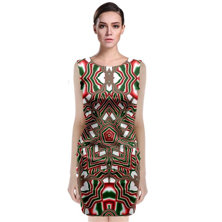 Christmas Kaleidoscope Classic Sleeveless Midi Dress