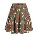 Christmas Kaleidoscope High Waist Skirt View1