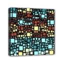 Block On Block, Aqua Mini Canvas 6  x 6  View1