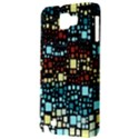 Block On Block, Aqua Samsung Galaxy Note 1 Hardshell Case View3