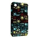 Block On Block, Aqua Apple iPhone 3G/3GS Hardshell Case (PC+Silicone) View2