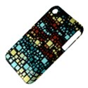 Block On Block, Aqua Apple iPhone 3G/3GS Hardshell Case (PC+Silicone) View4