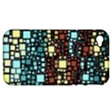 Block On Block, Aqua Apple iPhone 4/4S Hardshell Case (PC+Silicone) View1