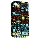 Block On Block, Aqua Apple iPhone 4/4S Hardshell Case (PC+Silicone) View2