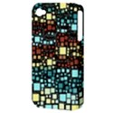 Block On Block, Aqua Apple iPhone 4/4S Hardshell Case (PC+Silicone) View3