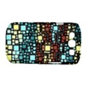 Block On Block, Aqua Samsung Galaxy S III Classic Hardshell Case (PC+Silicone) View1