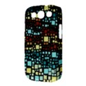 Block On Block, Aqua Samsung Galaxy S III Classic Hardshell Case (PC+Silicone) View3