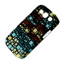 Block On Block, Aqua Samsung Galaxy S III Classic Hardshell Case (PC+Silicone) View4