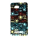 Block On Block, Aqua HTC One SU T528W Hardshell Case View3