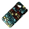 Block On Block, Aqua HTC Desire VC (T328D) Hardshell Case View4