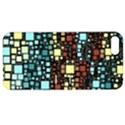 Block On Block, Aqua Apple iPhone 5 Hardshell Case with Stand View1