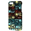 Block On Block, Aqua Apple iPhone 5 Hardshell Case with Stand View3