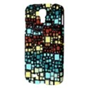 Block On Block, Aqua Samsung Galaxy S4 I9500/I9505 Hardshell Case View3