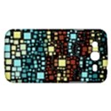 Block On Block, Aqua Samsung Galaxy Mega 5.8 I9152 Hardshell Case  View1