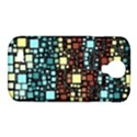 Block On Block, Aqua Samsung Galaxy S4 Classic Hardshell Case (PC+Silicone) View1