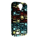 Block On Block, Aqua Samsung Galaxy S4 Classic Hardshell Case (PC+Silicone) View2