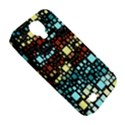 Block On Block, Aqua Samsung Galaxy S4 Classic Hardshell Case (PC+Silicone) View5