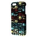 Block On Block, Aqua iPhone 5S/ SE Premium Hardshell Case View3