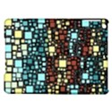 Block On Block, Aqua iPad Air Hardshell Cases View1