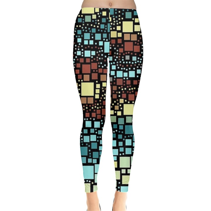 Block On Block, Aqua Leggings