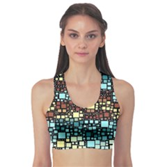 Block On Block, Aqua Sports Bra