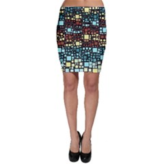 Block On Block, Aqua Bodycon Skirt