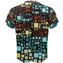 Block On Block, Aqua Men s Cotton Tee View2