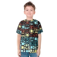 Block On Block, Aqua Kids  Cotton Tee