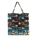 Block On Block, Aqua Grocery Tote Bag View1