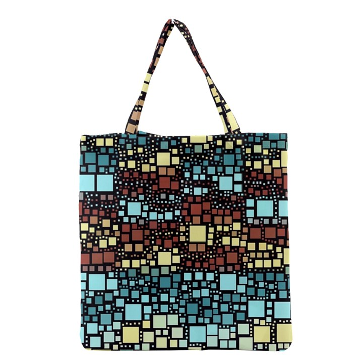 Block On Block, Aqua Grocery Tote Bag