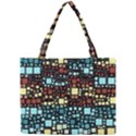 Block On Block, Aqua Mini Tote Bag View1