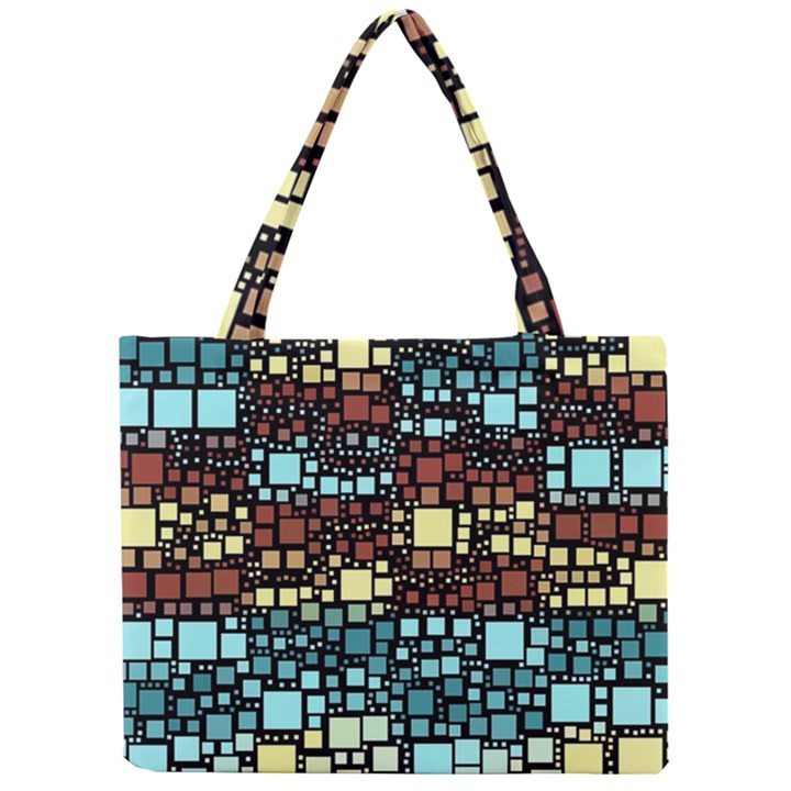 Block On Block, Aqua Mini Tote Bag