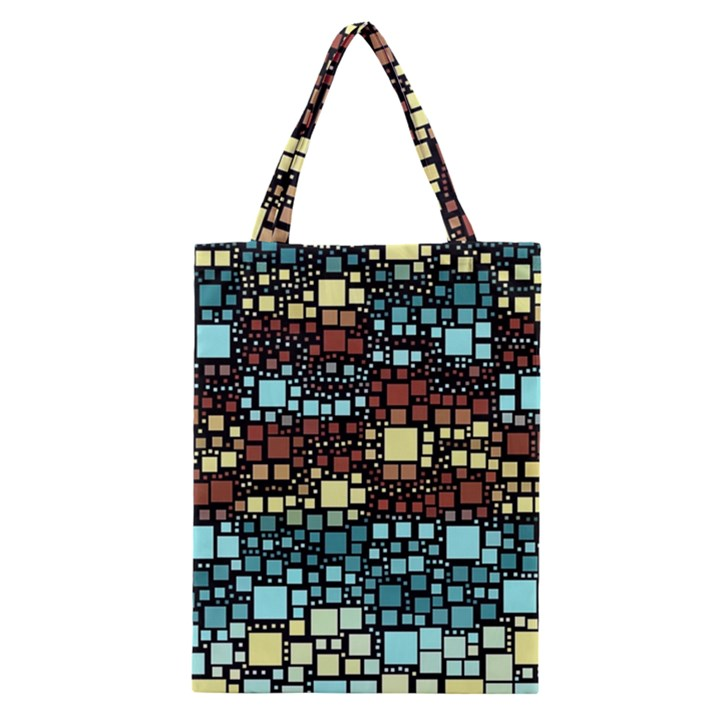 Block On Block, Aqua Classic Tote Bag