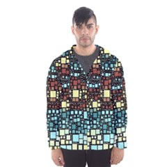 Block On Block, Aqua Hooded Wind Breaker (Men)