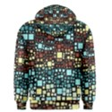 Block On Block, Aqua Men s Pullover Hoodie View2