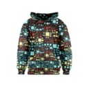 Block On Block, Aqua Kids  Pullover Hoodie View1