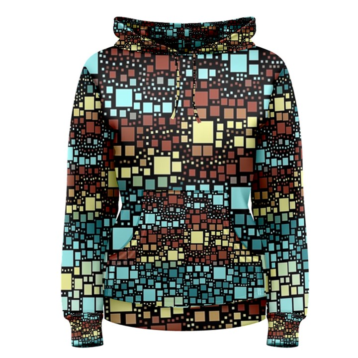 Block On Block, Aqua Women s Pullover Hoodie