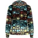 Block On Block, Aqua Women s Pullover Hoodie View2