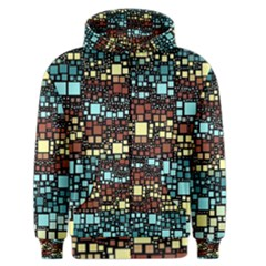 Block On Block, Aqua Men s Zipper Hoodie