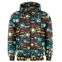 Block On Block, Aqua Men s Zipper Hoodie View1