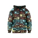 Block On Block, Aqua Kids  Zipper Hoodie View1